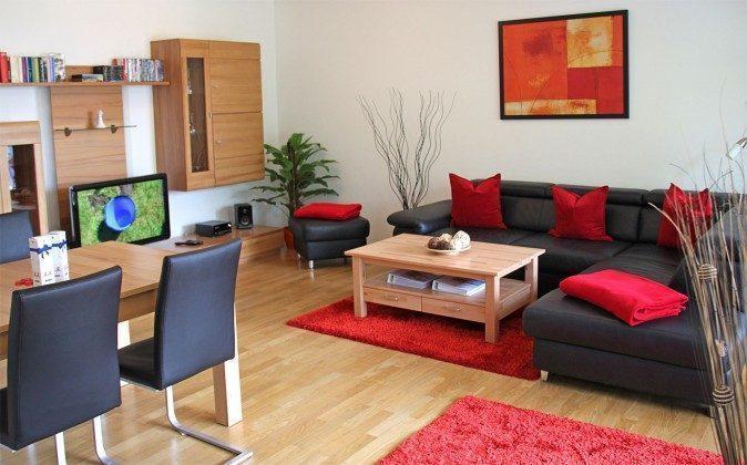 Warnemünde - Residenz im Kurpark - Ferienwohnung Haska - Sofabereich - Ref. 66225  - 1