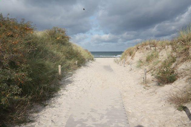 Aufgang zum Strand - Ferienwohnung am Strand