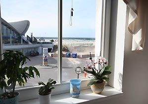Fensterblick vom Schlafzimmer Warnemünde Ferienwohnung Havanna