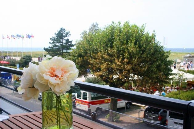 Terrasse Ferienwohnung mit Seeblick