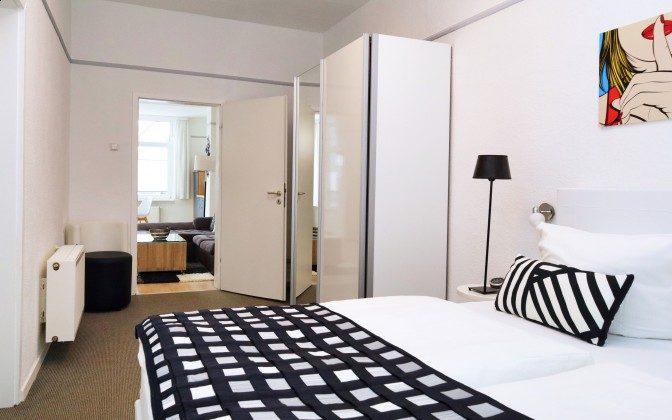 Schlafzimmer Warnemünde Ferienwohnung Blaue Brise