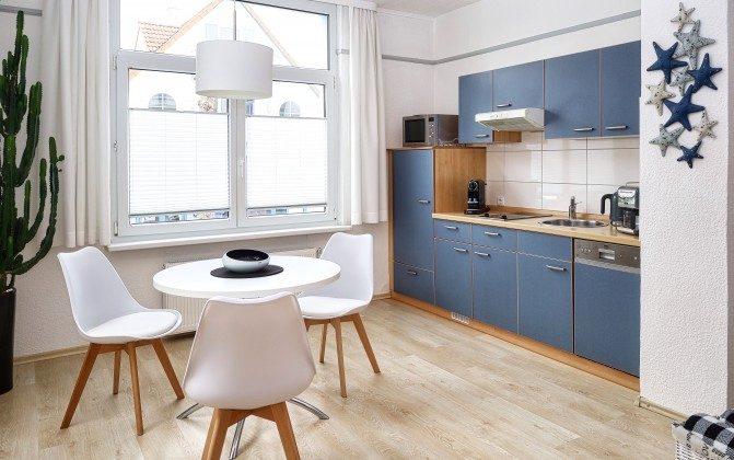 Küche Warnemünde Ferienwohnung Blaue Brise