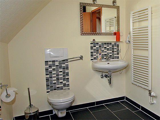 Ferienwohnung Warnemünde Badezimmer