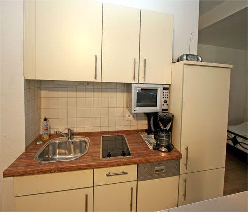 Apartmenrhaus Warnemünde Küchenzeile