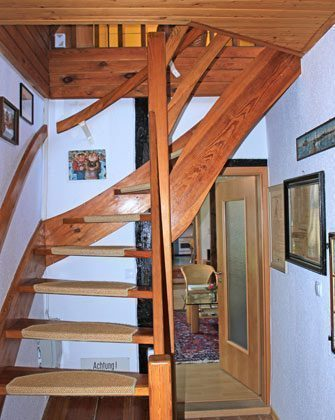 Treppe nach oben Fischerhus Strandidyll Warnemünde