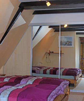 Schlafzimmer DG Fischerhus Strandidyll Warnemünde