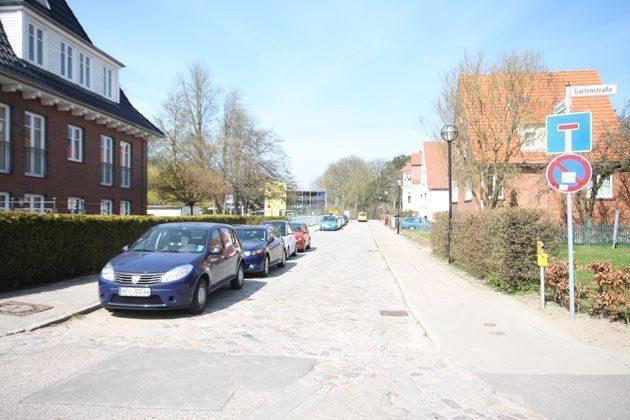 Die Gartenstraße in Warnemünde