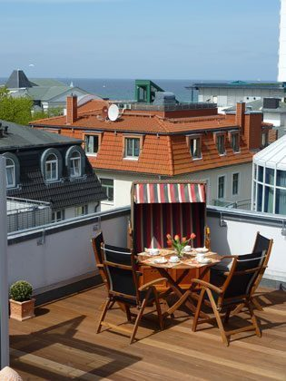 Four Seasons Sky Dachterrasse Ferienwohnung Warnemünde
