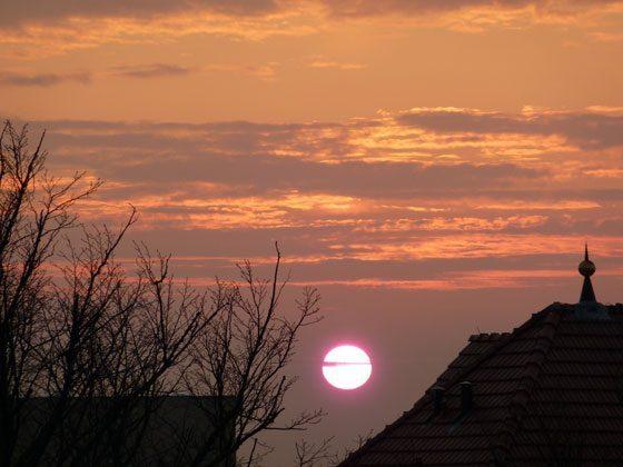 Sonnenuntergang Ferienwohnung Warnemünde