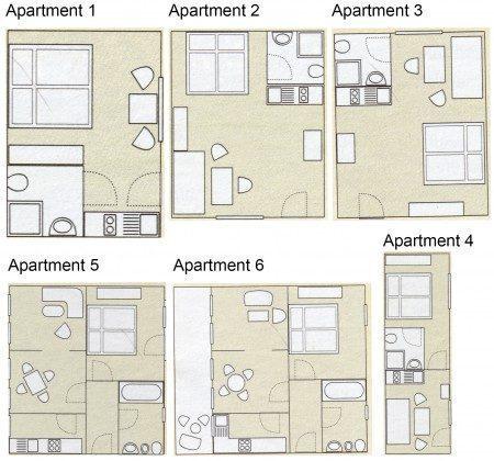 Grundriss Apartments 1-6