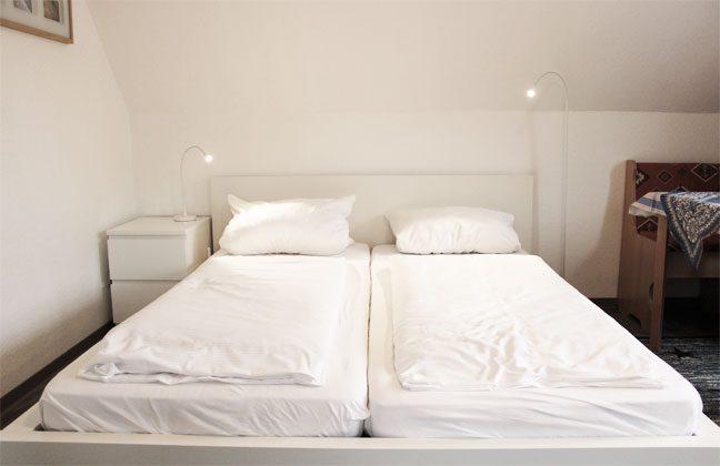Schlafbereich Ferienwohnung Möwenblick
