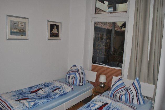 Warnemünde Ferienwohnung Ankerplatz Schlafzimmer mit 2 Einzelbetten