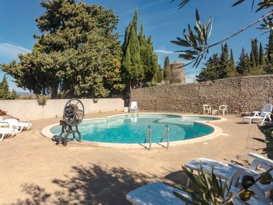 Frankreich Lèzignan Ferienhaus mit Pool