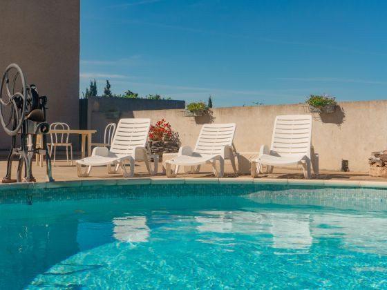 Lèzignan Ferienhaus mit Swimming Pool
