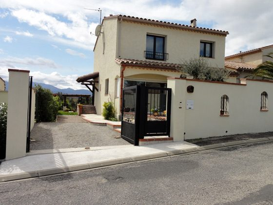 Ferienhaus Tresserre/Perpignan Vorderansicht