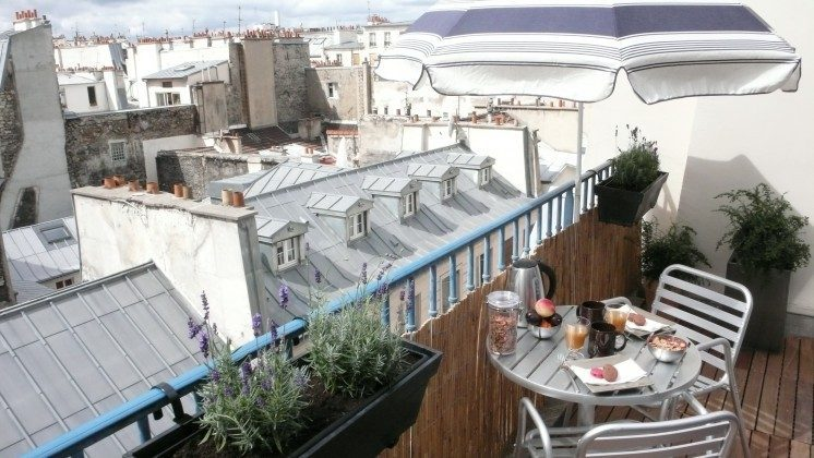 Ferienwohnung Paris - Balkon
