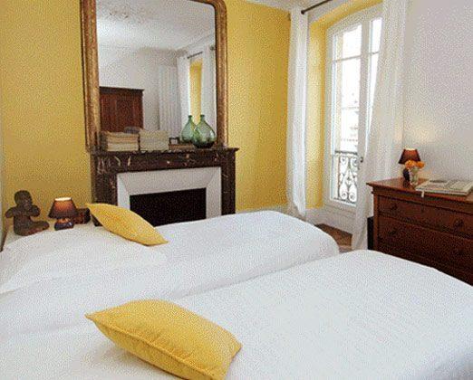 Schlafzimmer Einzelbetten Ferienwohnung Paris 67038-7
