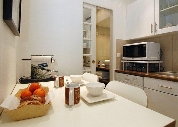 Küche a Sitzgelegenheit Apartment Paris Louvre Opera Ref. 67038-8