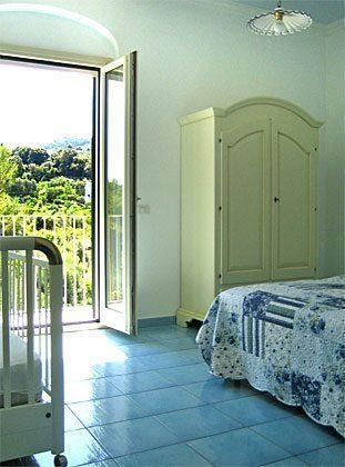 Schlafzimmer Ferienwohnung Gargano Cielo