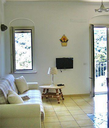 Wohnzimmer Gargano Ferienwohnung Sole