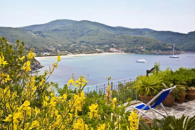 Aussicht a Ferienwohnung Elba Villino Forno 2598-29