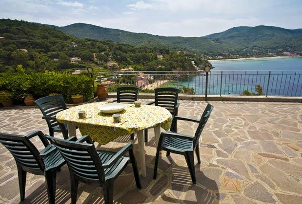 Terrasse a Ferienwohnung Elba Villino Forno 2598-29