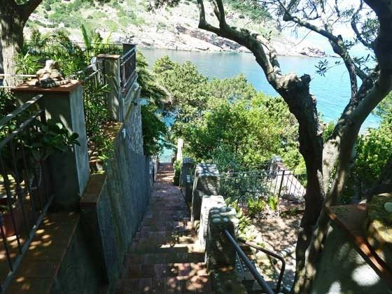Treppe zum Strand Nisporto Ferienwohnung Ref. 112305-48