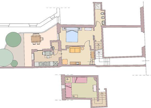 Apartment Oleander Florenz Ref. 56169  - Grundriss