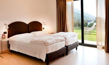 Ferienapartments Gardasee Typ B Schlafzimmer