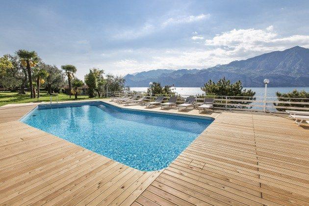 Appartementanlage Gemeinschaftsgarten mit Pool