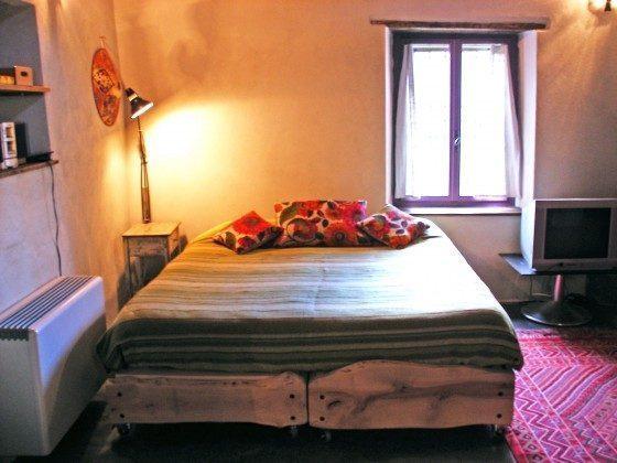 Schlafsofa als Doppelbett Ferienhaus Teresa am Iseosee