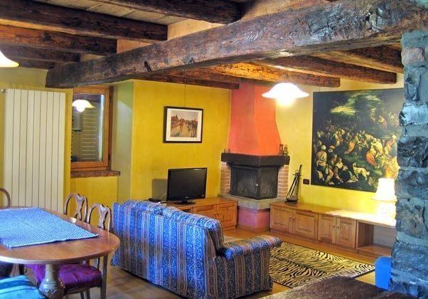 Wohnzimmer Ferienwohnung Siena Iseosee 1797 Zorzino