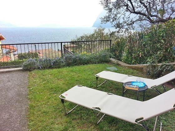 Gartenaussicht Riva di Solto Ferienwohnung Ref. 65162-11