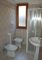 Cilento Nationalpark Ferienwohnung Badezimmer