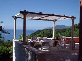 Kampanien Cilento Ferienwohnung Terrasse mit Meerblick