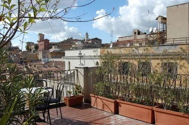 Dachterrasse : Ferienappartement Rom