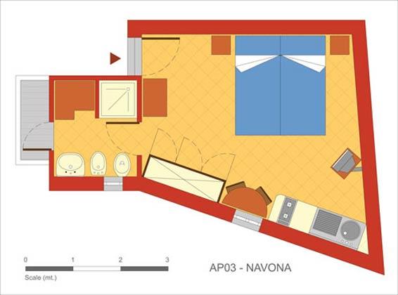 Grundriss Rom Ferienwohnung Ref 108581-2