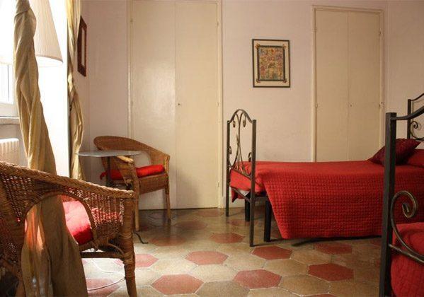 Schlafzimmer Einzelbetten b Ferienwohnung Rom 3573-20 / 985