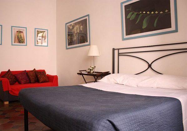 Schlafzimmer Doppelbett a Ferienwohnung Rom 3573-20 / 985