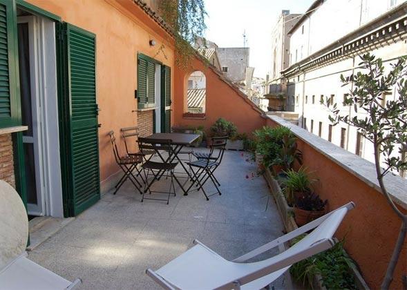 Terrasse c Ferienwohnung Rom Pantheon 3573-60 / 1122