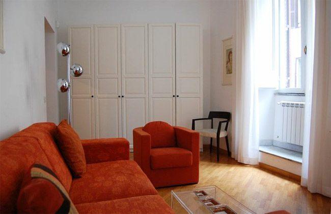 Wohnzimmer a Apartment Rom Spanische Treppe 3573-61 / 1584