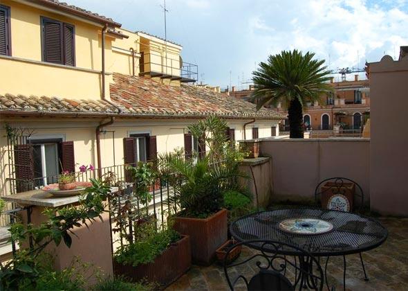 Terrasse b Apartment Rom Spanische Treppe 3573-64 / 1011