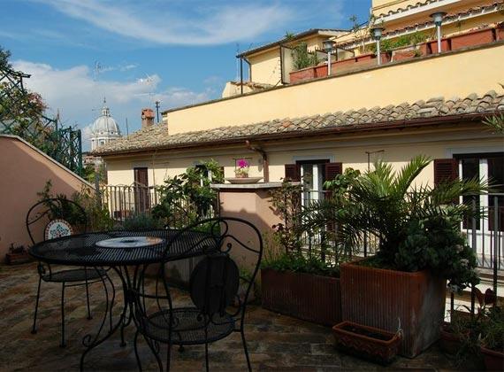 Terrasse a Apartment Rom Spanische Treppe 3573-64 / 1011