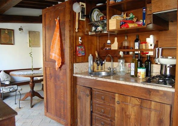 Wohn- Esszimmer Küche Apartment Rom Spanische Treppe 3573-64 / 1011