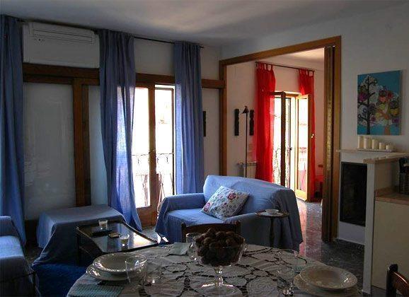 Wohnzimmer b Ferienwohnung Rom spanische Treppe 3573-65 / 1542