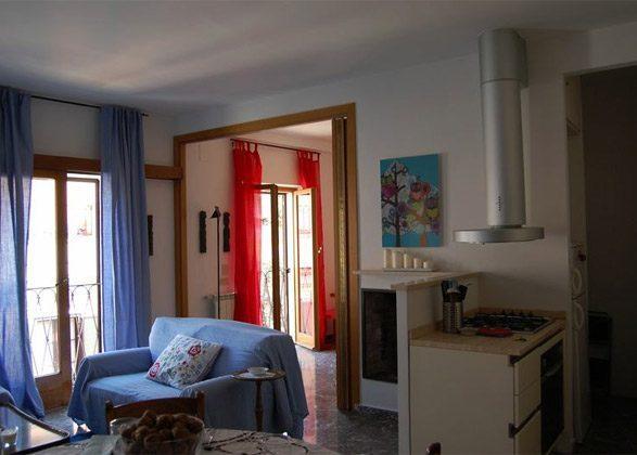 Wohnzimmer d Ferienwohnung Rom spanische Treppe 3573-65 / 1542