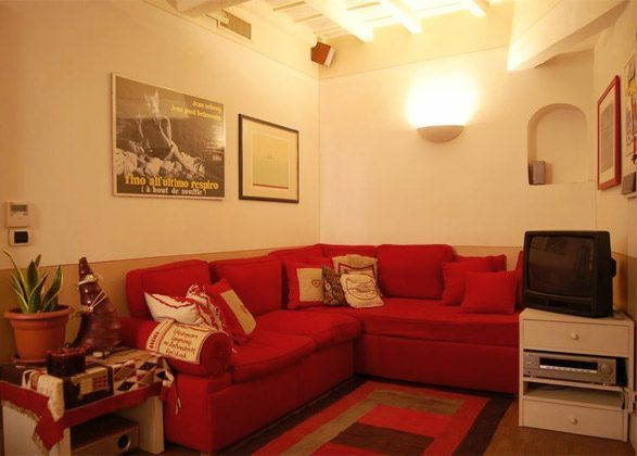 Wohn- Esszimmer a Apartment Rom Trastevere 3573-62 / 1277