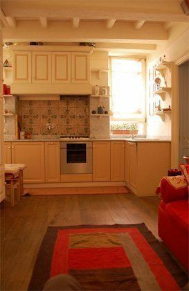 Wohn- Esszimmer c Apartment Rom Trastevere 3573-62 / 1277