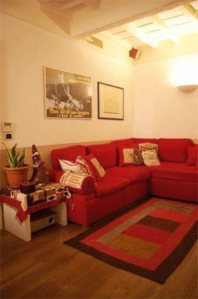 Wohn- Esszimmer d Apartment Rom Trastevere 3573-62 / 1277