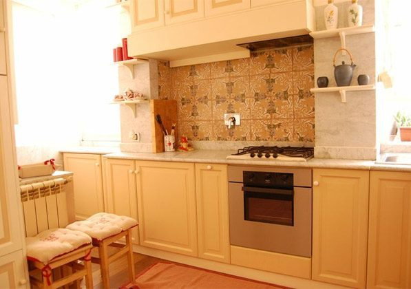 Küche Wohn- Esszimmer Apartment Rom Trastevere 3573-62 / 1277
